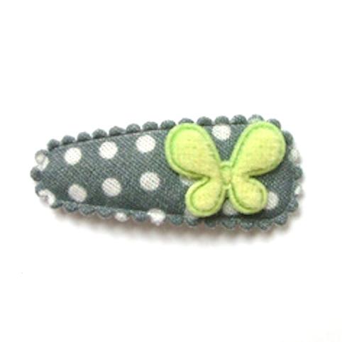 barrette bébé antidérapante à papillon vert