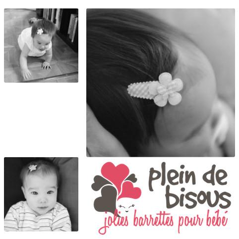 Barrettes anti-glisses pour bébé ou petite fille - No Slip Baby Hair Clips by Pleindebisous