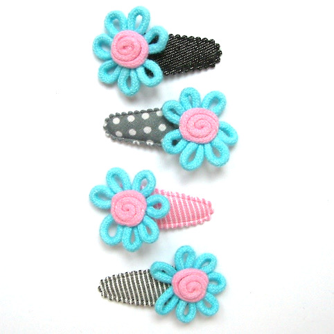 no slip baby hair clip cotton flower