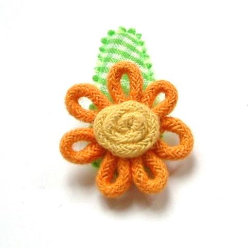 barrette pour bébé à fleur orange