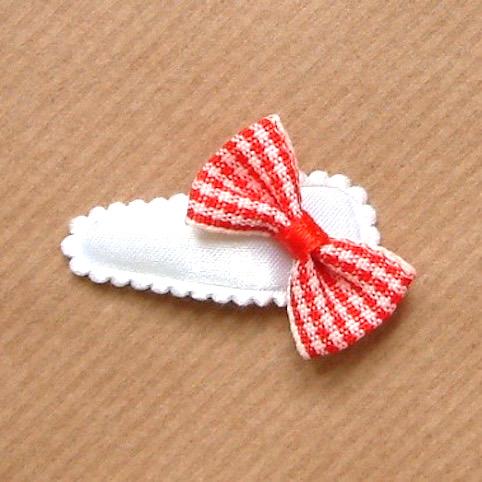 barrette bébé à noeud papillon rouge