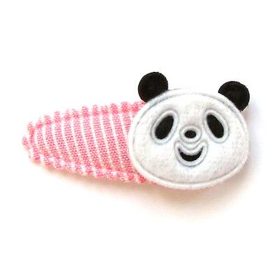 Barrette bébé à panda en feutrine