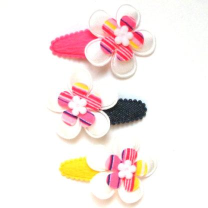 Barrette pour bébé et petite fille à grande fleur multicolore