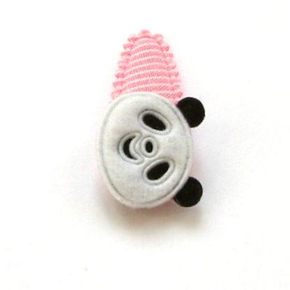 barrette pour bébé à panda en feutrine